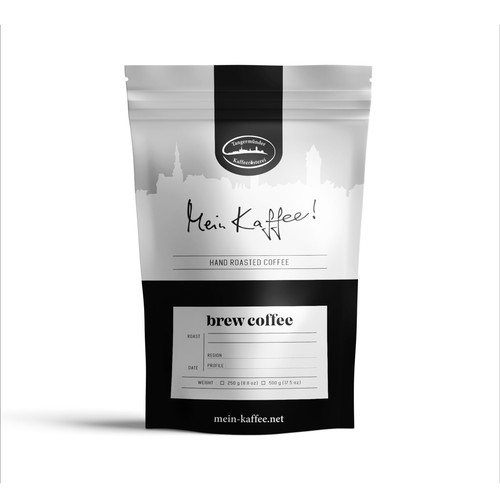 Coffee Pouch design for Tangermünder Kaffeerösterei