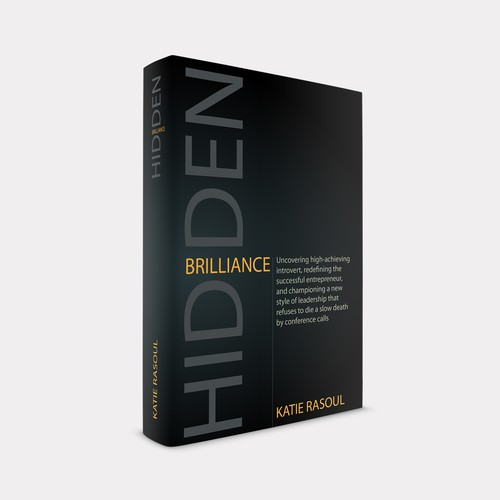 Bold | Modern concept for book cover