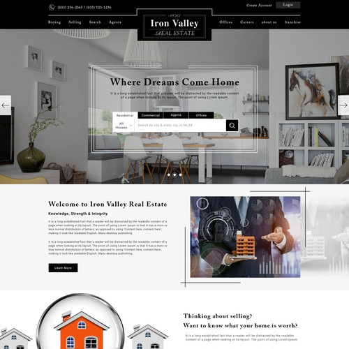 Landing Page Design for Iron valley