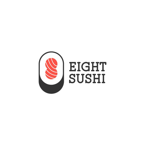 Creative logo for Eight Sushi