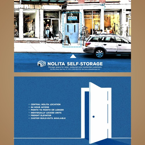 Storage space for retail, restaurant and residential customers.