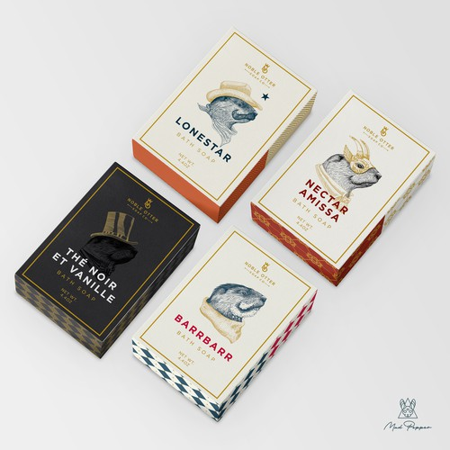 Noble Otter Bath Soaps Packaging