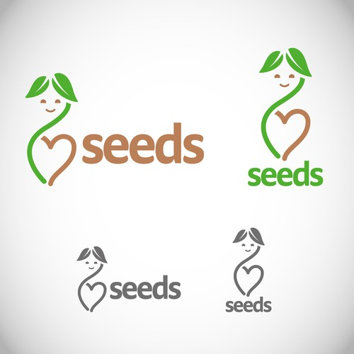 Create a warm and subtle seedling illustration for a pediatric psychologist