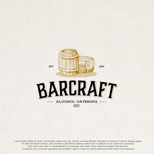 Vintage logo design for Alcohol Catering.