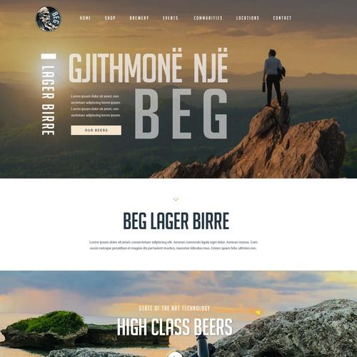 Webdesign BEG beer