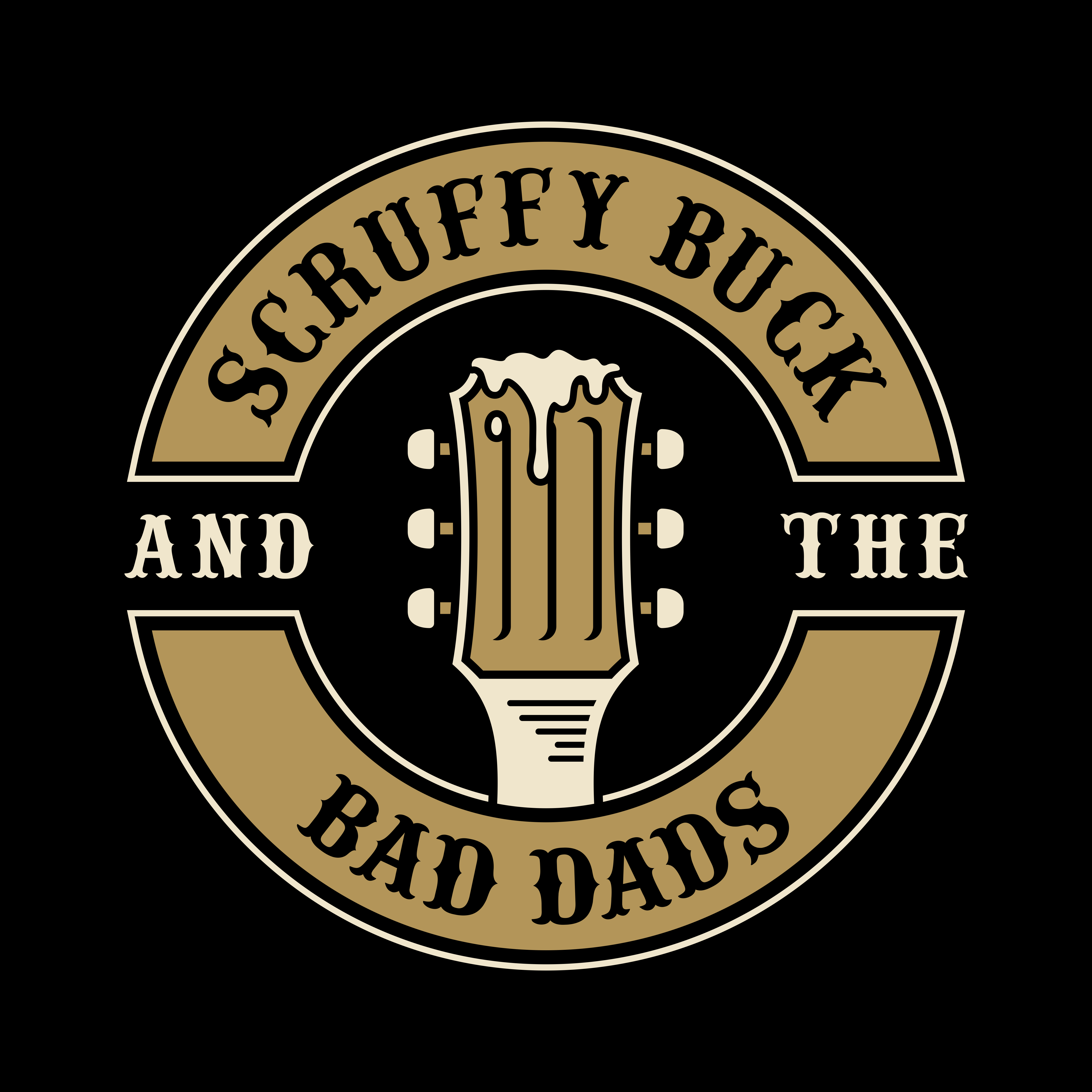 Four bad ass rock & roll, motorcycling, beer drinking, hockey playing dads need a logo for the band!