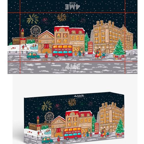 London Christmas Illustration