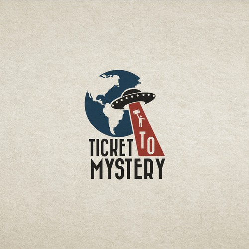 Vintage travel logo for a interactive mystery game business.