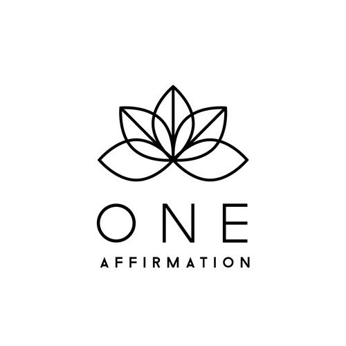 Logo and website for Jewelry Line called One Affirmation