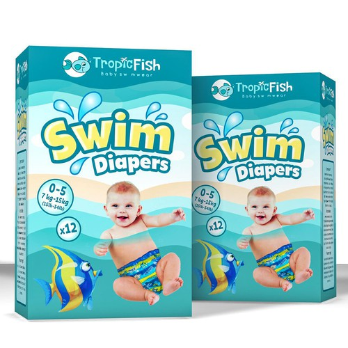 Playful design concept for swim diapers