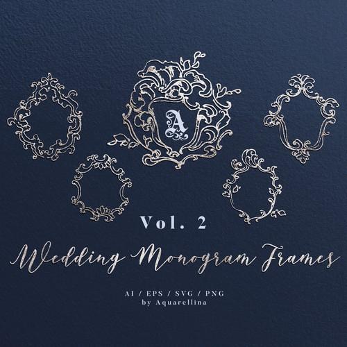 Wedding Monogram Frames