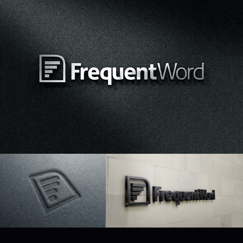 modern logo for frequent word