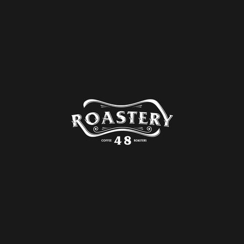 typographic coffee logo