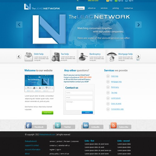 Help The Lead Network with a new website design