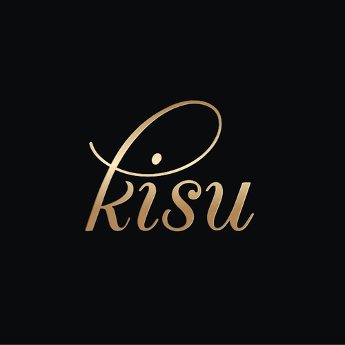 Create a modern and romantic logo for Kisu