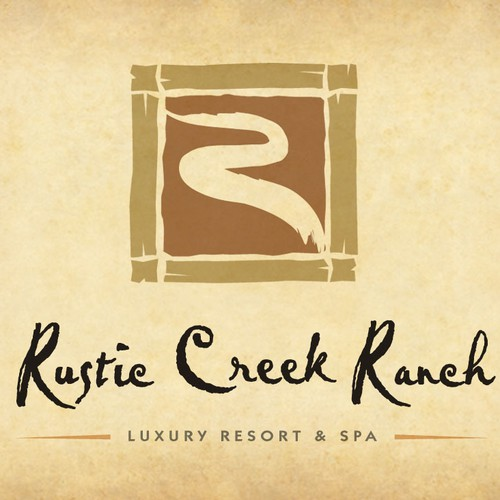 "Logo for ""Rustic Creek Ranch"" resort in Central Texas"