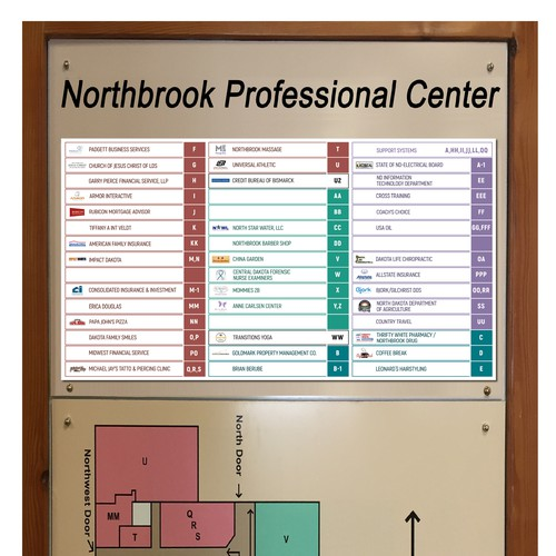 Shops Map of Retail/office Center
