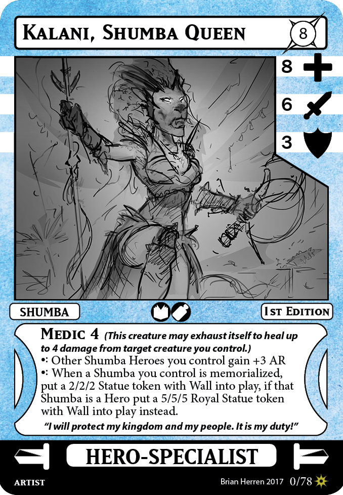 Card Game Sketches