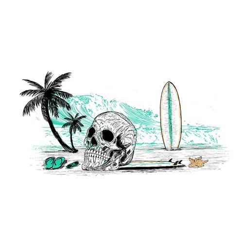 Beachy Surflife Design for Apparels