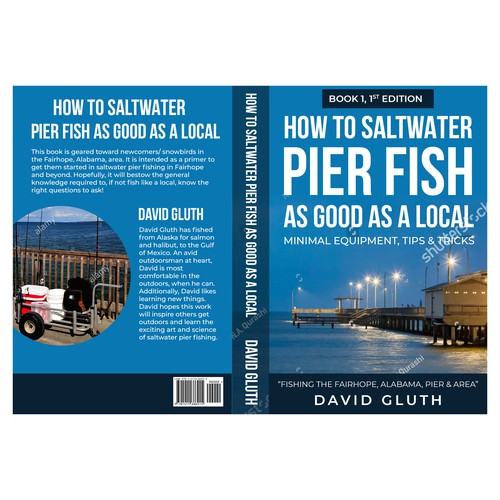 Book Cover Design on Saltwater Pier Fishing