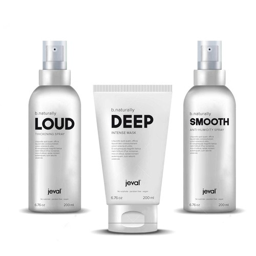 Minimal style packaging for Hair Styling product