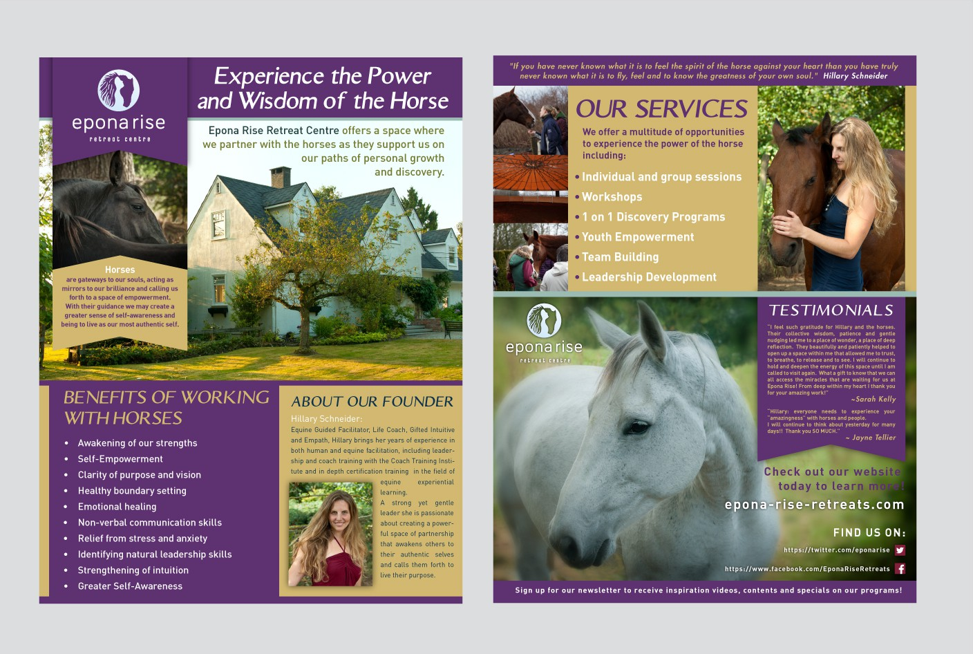 We Want you! Help Epona Rise Retreat Centre design an unique flyer for tradeshow
