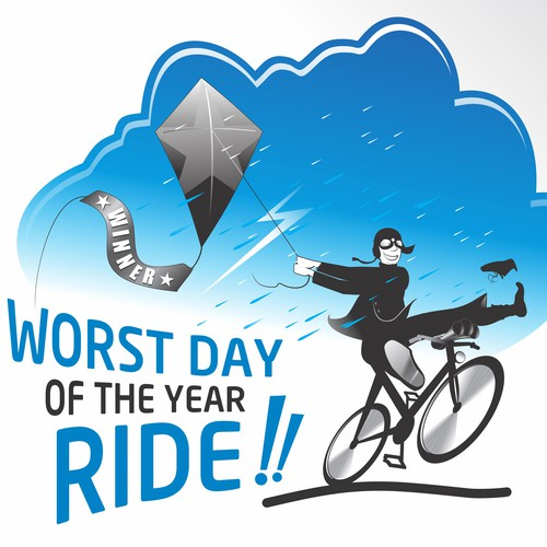 BIKE RIDE! Worst Day of the Year Ride Logo
