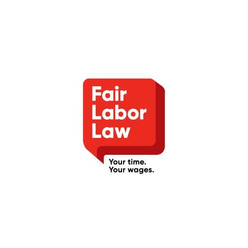 Modern Wordmark for Fair Labor Law Logo