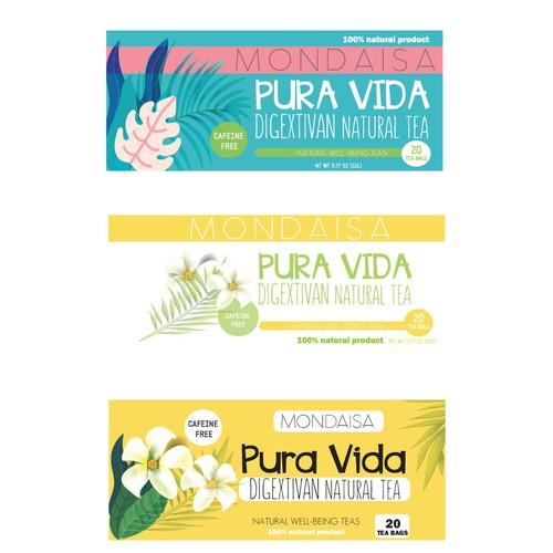 Packaging detox tea from Costa Rica
