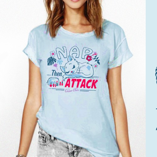 Cute Hawaiian-vibe T-shirt design