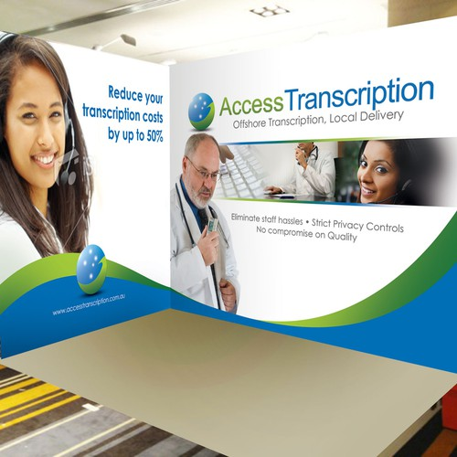 Booth design for Access Transcription