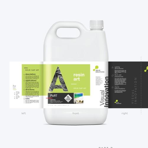 Solid Solution label design