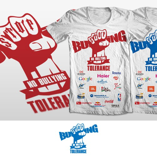 Create a stop bullying logo or mascot which will be used on t-shirts worn by teachers across the USA
