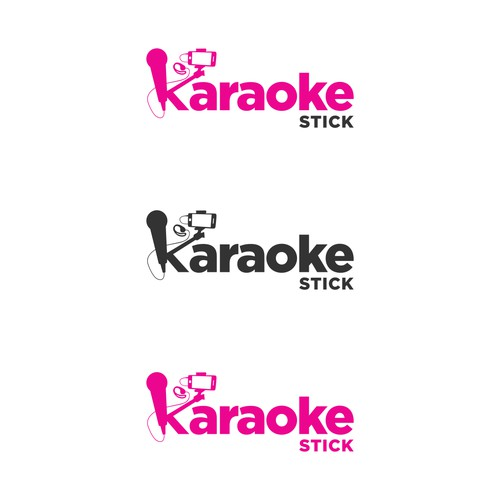 logo for karaoke stick