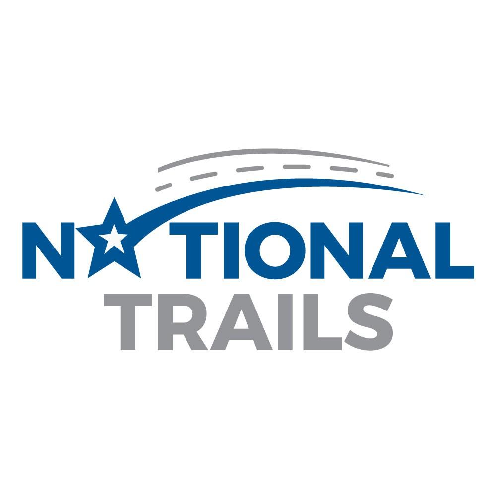 Create an inspiring logo for National Trails