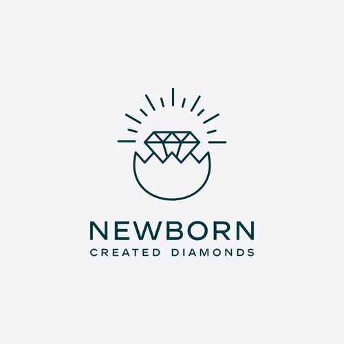 Logo design for gem producing company.