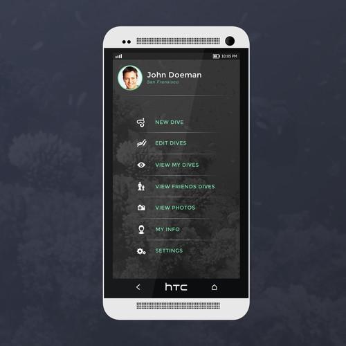 Dive Log App Design