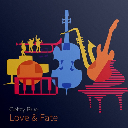 "Getzy Blue ""Love& Fate"" Album cover contest entry"