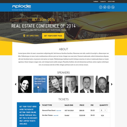 Redesign a Killer Conference Page!