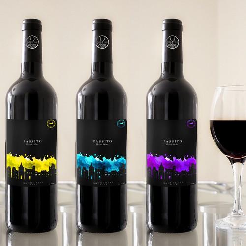 Colorful label for Sicilian Wine