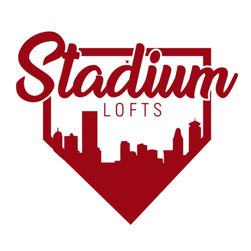 Concept Logo for Apartments next to Baseball Stadium