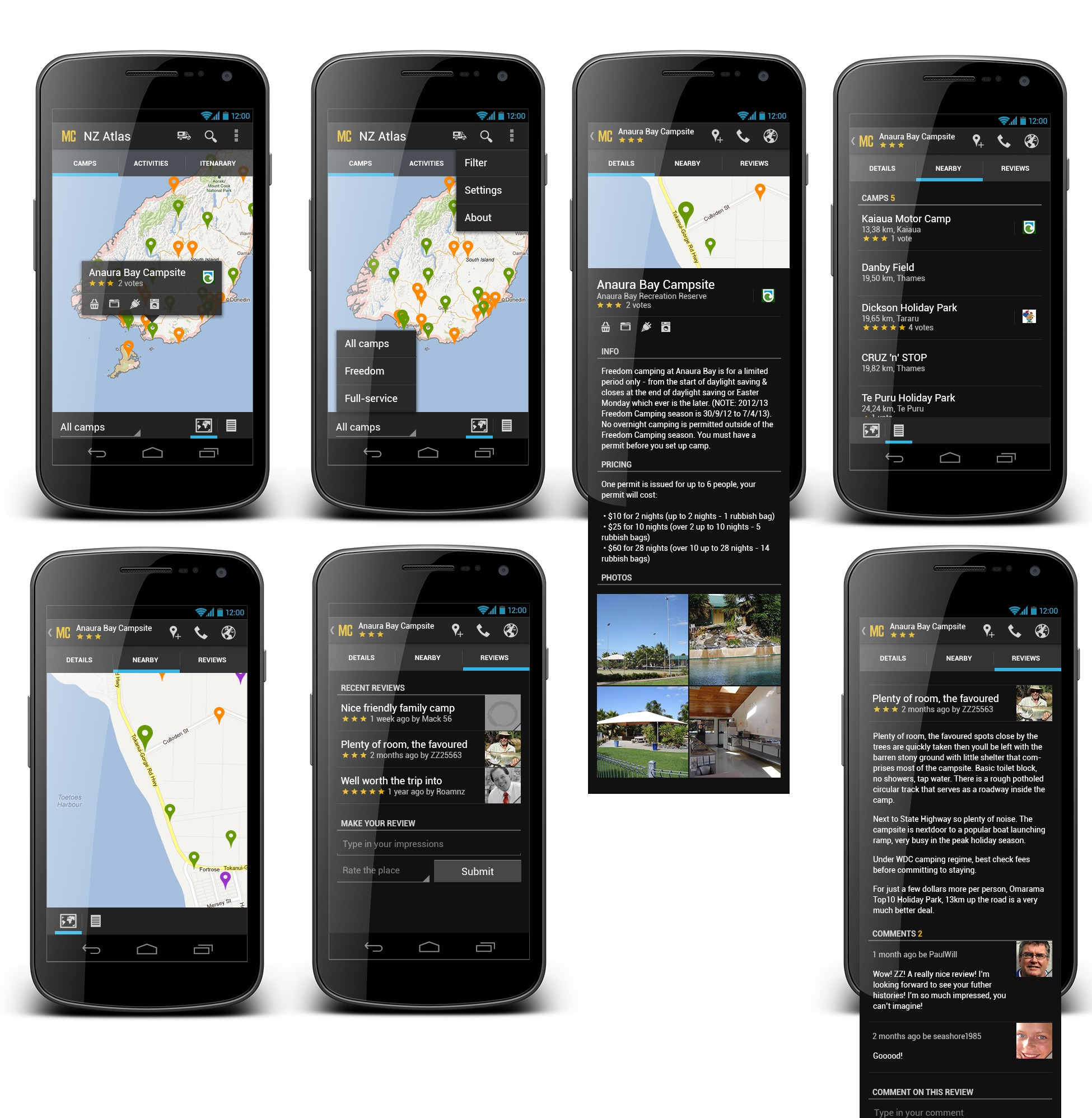 NZ Travel Atlas Android app design required