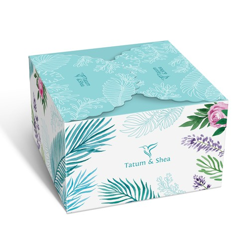 Box design based on the original watercolor and line art illustrations