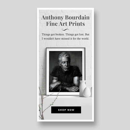 Banner ads to sell fine art prints