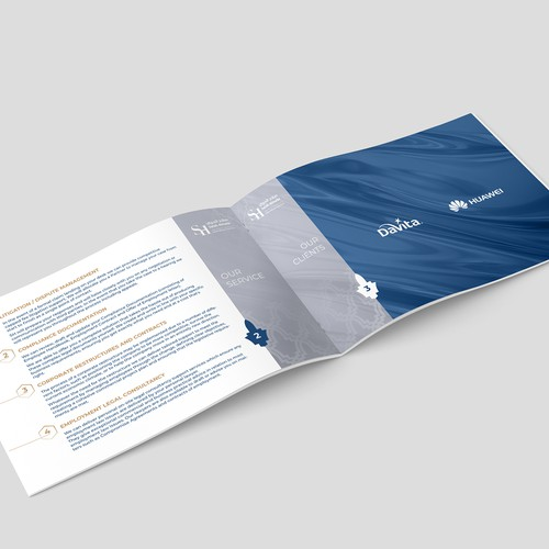 Luxurious law firm brochure