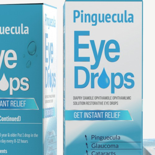 Small and Simple Eye Dropper Box for Relieving Eye Drops