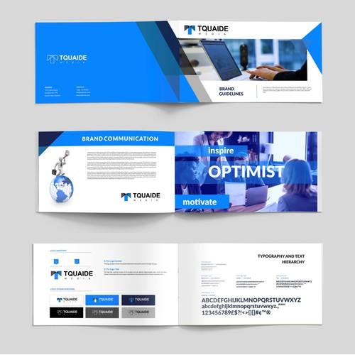 Brand guide and branding design for Tquaide Media