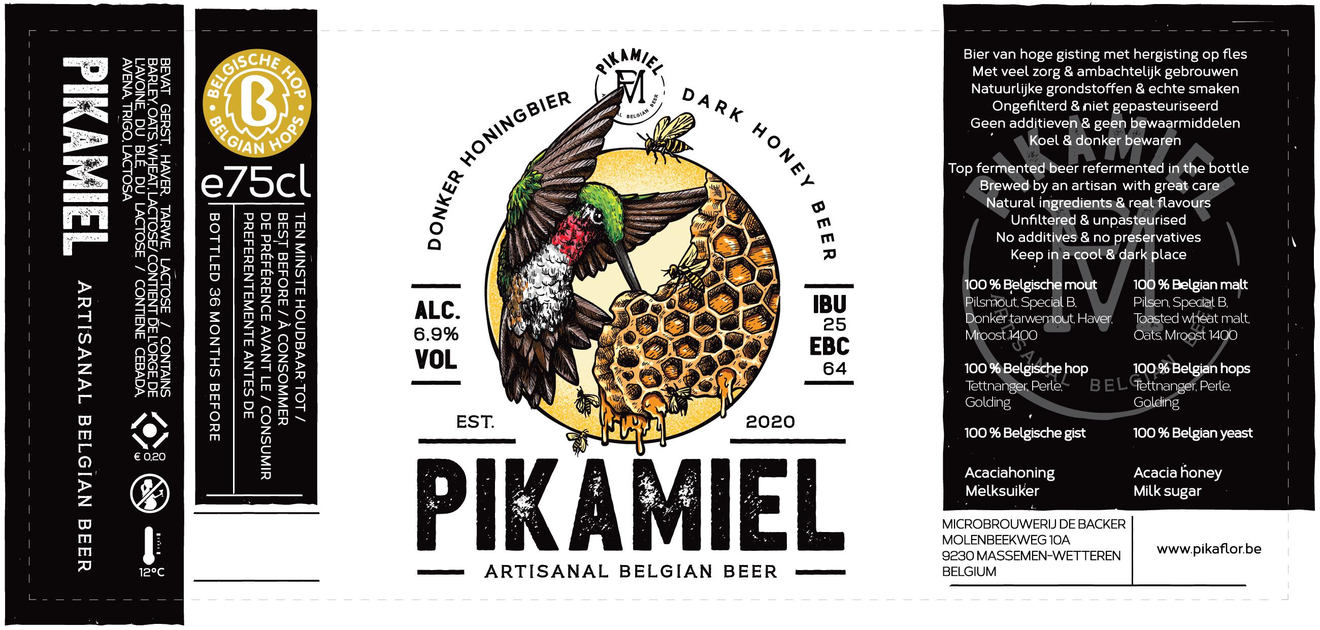PIKAMIEL logo & label