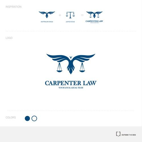 Logo concept for Carpenter Law firm