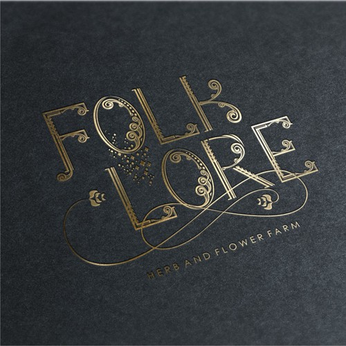 Logo concept for folklore